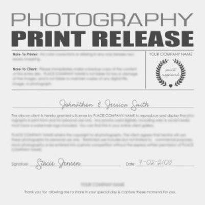 Print Release Form Peace Of Mind For Only  Get This On