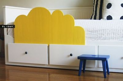 diy toddler bed rail. shaped like a cloud for ikea hemnes ...