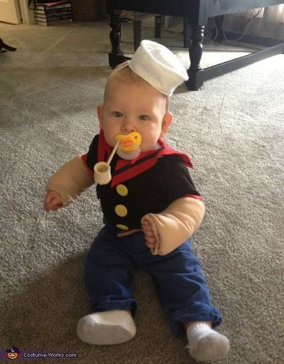 Popeye The Sailor Man Diy Baby Costume Halloween Time