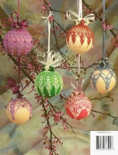 Free Crochet Patterns For Christmas Ball Covers : Free Beaded Christmas Ornament Covers ... Springtime ...