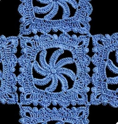 Pretty Pinwheels Motif - found on a website w/ 300 crochet doilies, which a creative mind could find so many ideas/uses beyond furniture. See for yourself: http://www.allcrafts.net/crochet/crochetdoilies.htm