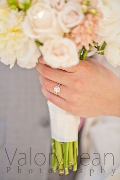 Oval Cut engagement ring with pave diamond band. Valory Jean Photography