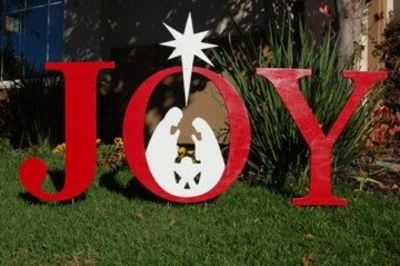 Joy nativity outdoor christmas holiday yard art sign for Christmas outdoor decoration patterns