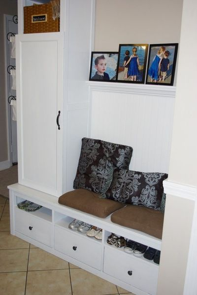 Ikea hack entry bench and storage interior house ideas Entryway bench ikea