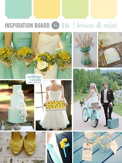 Wedding Color Combination Lemon Yellow And Mint Aqua Teal