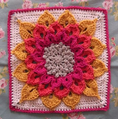The Crocodile Flower square pattern by Joyce Lewis ...