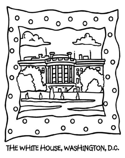 The White House coloring page Preschool items Juxtapost