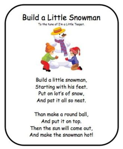 Snowman Poem! / Preschool items - Juxtapost
