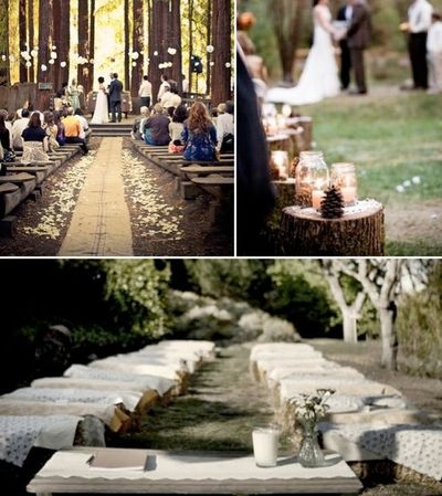 Simple Rustic Outdoor Country Wedding! Hay Bale Seating U0026 Gorgeous Alter