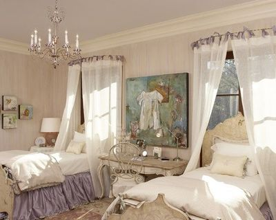 Use Round Shower Curtain Rod For Canopy Over Bed Daughters Room