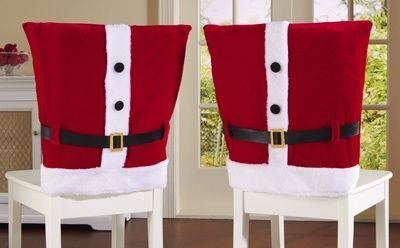 Surprising Red Santa Suit Holiday Dining Chair Covers Could Diy W Red Unemploymentrelief Wooden Chair Designs For Living Room Unemploymentrelieforg