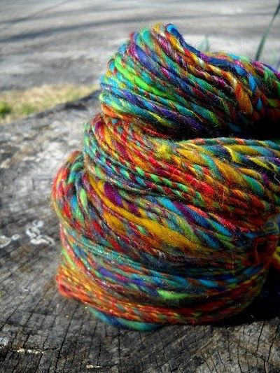 Rainbows and Unicorns Handspun Single Yarn Merino