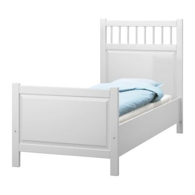 HEMNES Bed frame IKEA Adjustable bed rails allow the use of mattresses of different heights.