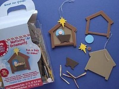 Bulk Craft Kit To Make 120 Foam Nativity Ornaments Christmas Crafts By Theme