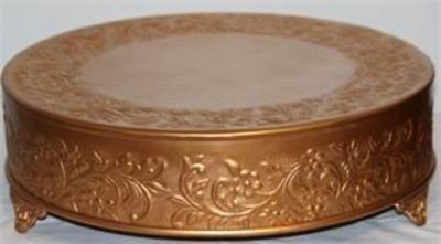wedding dark matte gold round cake stand plateau 16 i wedding