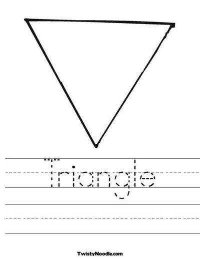 triangle worksheet from preschool items juxtapost. Black Bedroom Furniture Sets. Home Design Ideas