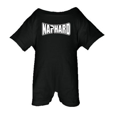 Nap Hard tap out parody funny Baby Romper - Black. $22.99 squigglyboo.com