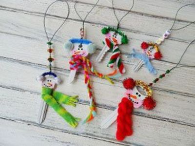 snowman keys as party favors
