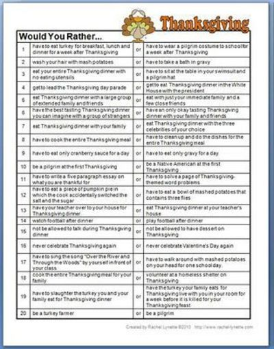 Thesis Examples For Argumentative Essays Thanksgiving Would You Rather Questions Argumentative Essay On Health Care Reform also Persuasive Essays Examples For High School Thanksgiving Would You Rather Questions  Thanksgiving Ideas  Juxtapost Synthesis Essay Topics