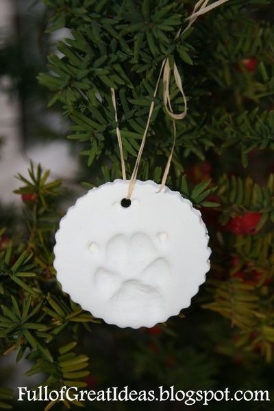 Your Dog's Paw Print Ornament
