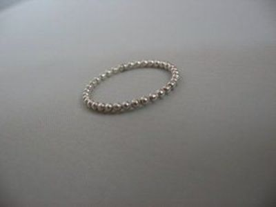 One SINGLE Sterling Silver Beaded (Dotted) band / #stackable / #stacking / #stack / #ring- dainty thumb ring, first knuckle rings, dainty thumb #rings