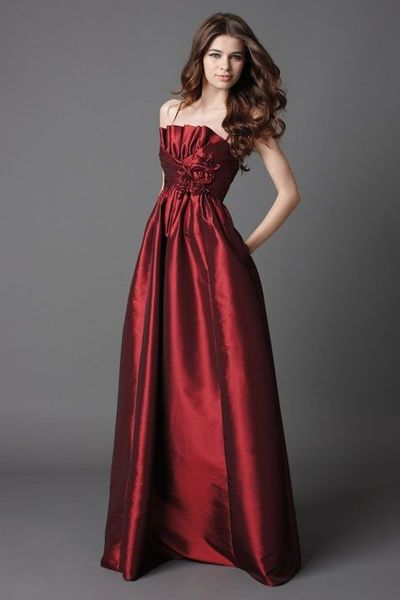 Scalloped-edge taffeta bridesmaid dress with empire waist $204.00
