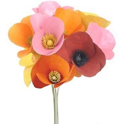 Poppies Flower Kit: Kit for 12 flowers. $18