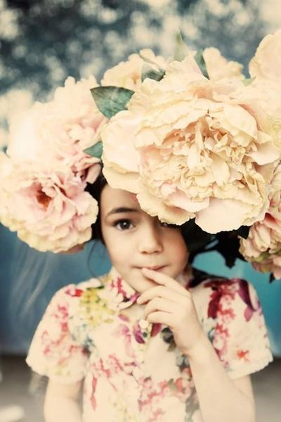 and she wore flowers in her hair