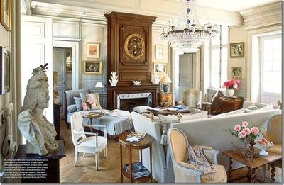 French Living Room Via Cote De Texas For The Home Juxtapost