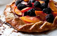 Nectarine or Peach and Blackberry Galette