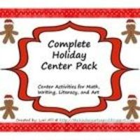 HUGE collection of center activities for the holidays. Seven different center activities included in this pack.* Letter Matching ...