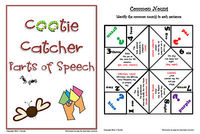 cootie catchers for reviewing parts of speech