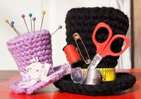 Mini top hat crochet pattern by FromHandToHeart on Etsy, $1.50
