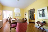 butter yellow walls, floor color, trim