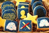 STAR WARS - 1 Dozen decorated sugar cookies - platter sized