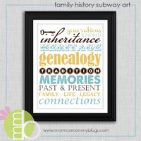subway art family history printable