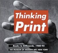 Thinking Print: Books to Billboards, 1980-95: Vija Celmins, Luis Cruz Azaceta, Judith Francisca Baca, Jennifer Bartlett