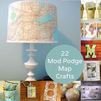 22 Mod Podge map crafts youll love