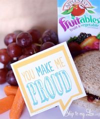 Free printable lunch box notes! Send love from home. From Skip to my Lou.