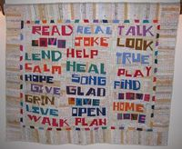4 Letter words by Kathie Boucher. Inspired by Tonya Ricucci's Word Play Quilts. Martingale and Company, via Flickr.