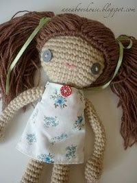 Crochet Doll or monkey or cat or bear or mouse or rabbit Pattern with an awesome tutorial at Annaboo's