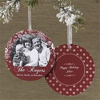 What a great idea! A Christmas card that's also an ornament.
