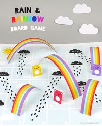 Rain & Rainbow board game by Mr Printables. FREE