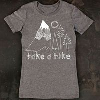 Take A Hike Women's Tee Gray