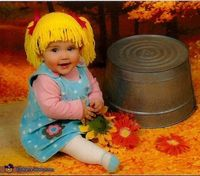 DIY Cabbage Patch Doll baby costume