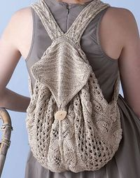 Ravelry: Commuter Knapsack. Cute!