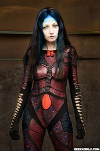Illyria (from the Angel TV series), cosplayer is Astr0Babe.
