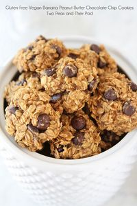 Gluten-Free Vegan Banana Peanut Butter Chocolate Chip Cookie Recipe