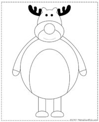 "Cartoon Reindeer Coloring Page : Printables for Kids �€"" free word search puzzles, coloring pages, and other activities"
