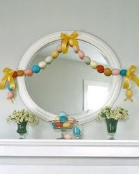 How to make a garland out of blown eggs